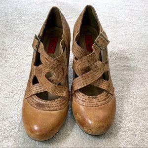 Miz Mooz Soho High Heel Pumps Shoes Antique Tan